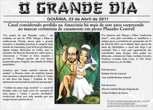 Ebraga Arts  Convite De Casamento De Thiago E Ellen