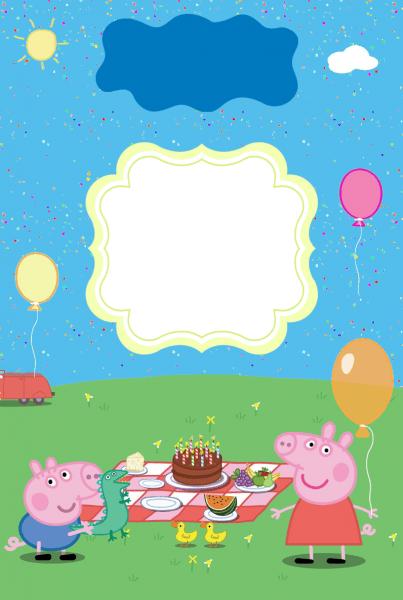 10 convite de aniversário grátis para baixar peppa pig