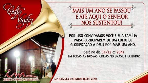 Na imensidão do amor de deus  convite culto vigília igreja cristã