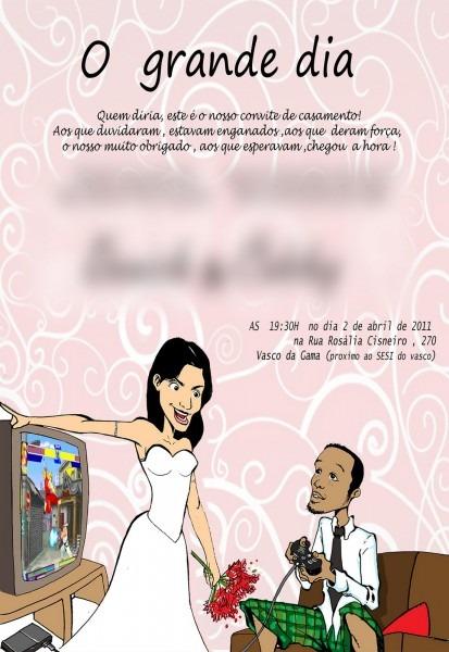 Caricaturasrecife  Convites De Casamentos Exemplos
