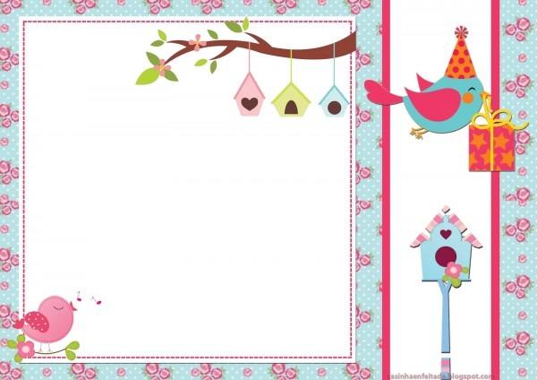 Casinha de criança  kit festa passarinhos para imprimir grátis