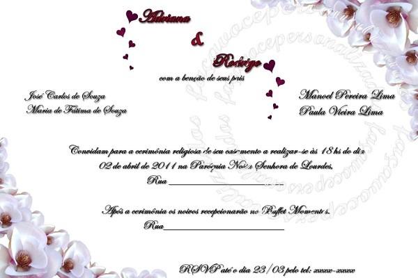 Faça Você Personalizados  Artes Para Convites Casamento