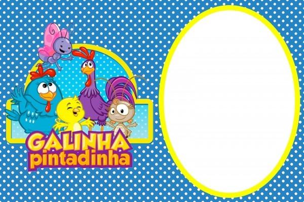 Center kits para imprimir grátis da galinha pintadinha azul