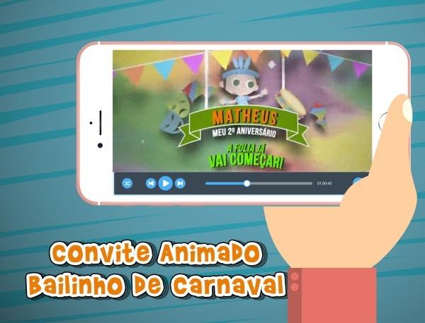 Convite Animado Bailinho De Carnaval Menino No Elo7