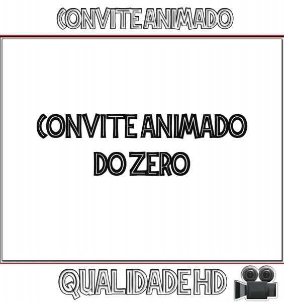 Convite animado (vÍdeo) montagem do zero ( qualquer tema ) no elo7