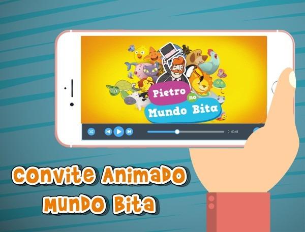 Convite Animado Virtual Mundo Bita No Elo7