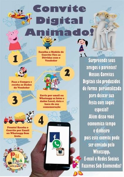 Convite animado virtual video mp4 (envio pelo whatsapp)