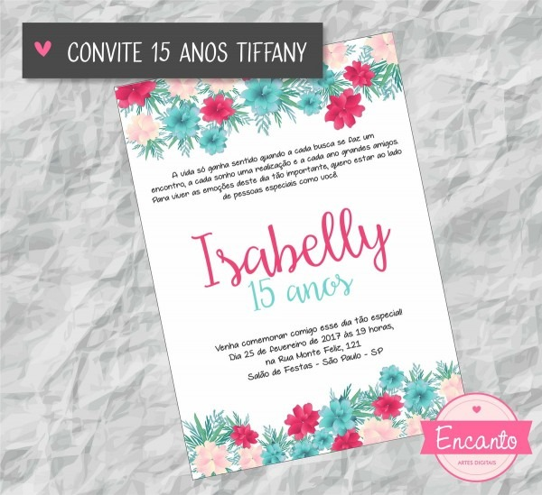 Convite Aniversário 15 Anos