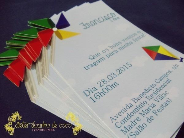 Convite Aniversário Catavento E Pipa No Elo7