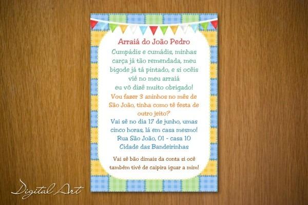 Convite aniversario junino 5 » happy birthday world