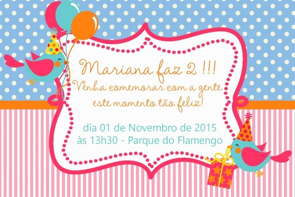 Convite Aniversário Menina