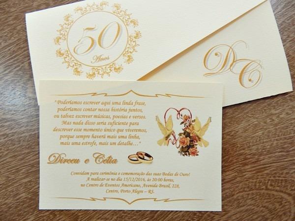 Convite de ouro
