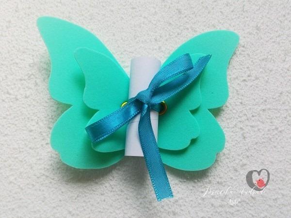 Convite borboleta em eva no elo7