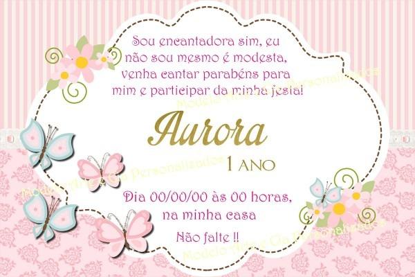Convite borboletas rosa no elo7