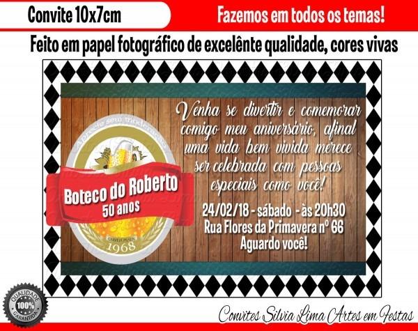 Convite boteco no elo7