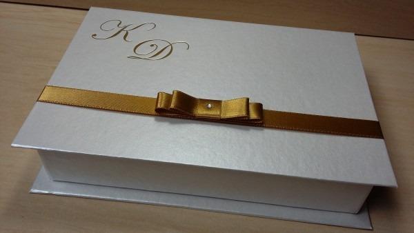 Caixa box convite para padrinhos e pais 19x13,5x3,5 no elo7