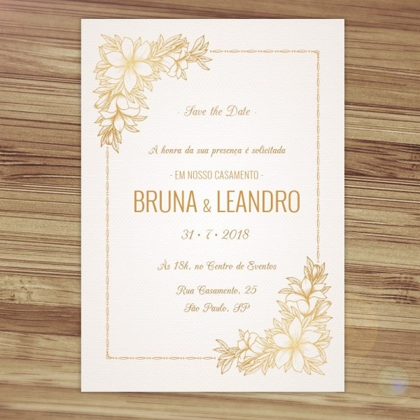 Convite casamento clássico