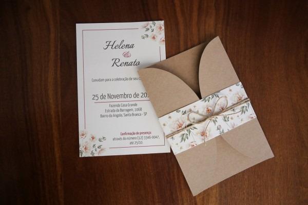 Convite para casamento rústico  simples e sofisticados! [com fotos!]
