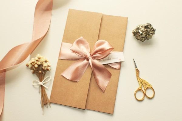 Convite casamento rustico chic