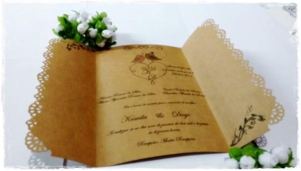 Convite casamento rustico no elo7