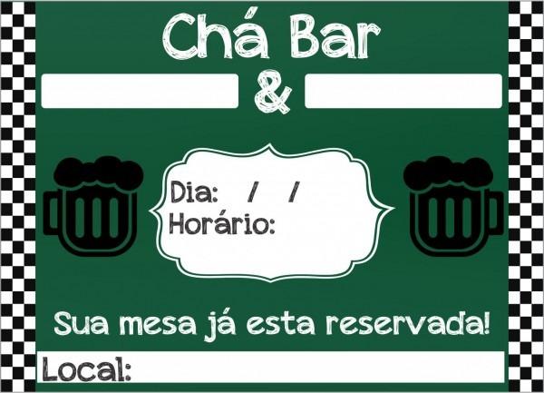 Convites para chÁ bar