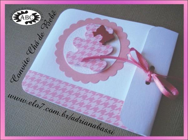 Convite Artesanal  Convite Chá De Bebê