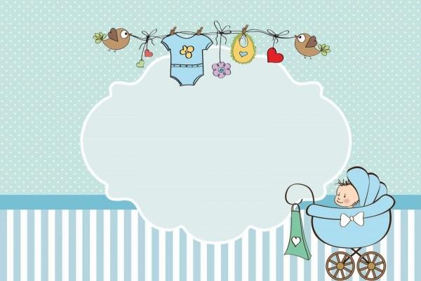 Convites de chá de bebê ou chá de fraldas gratuitos para imprimir