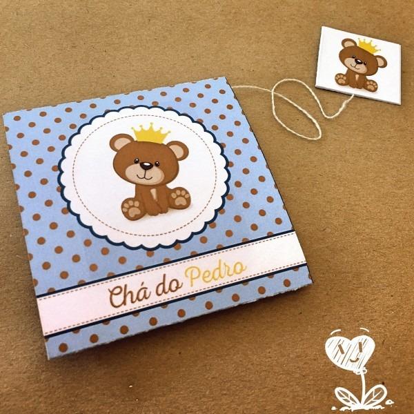 Convite chá de bebê (urso príncipe ) no elo7