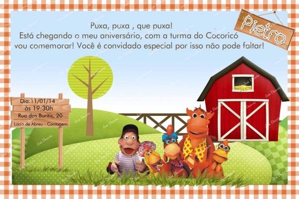Convite Cocoricó No Elo7