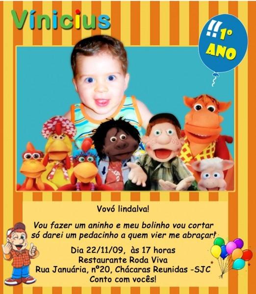 Calendário, Poster E Convite – Festa Cocoricó