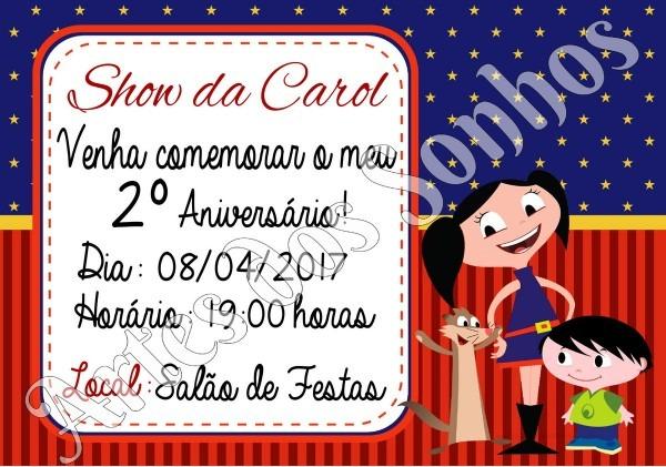 PromoÇÃo convite de aniversário show da luna no elo7