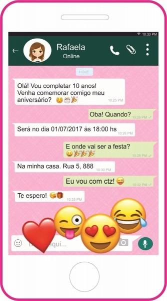 Convite de aniversário whatsapp