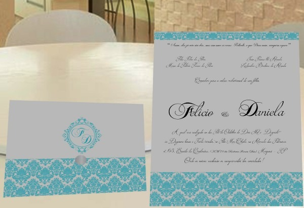 Convite de casamento barato no elo7