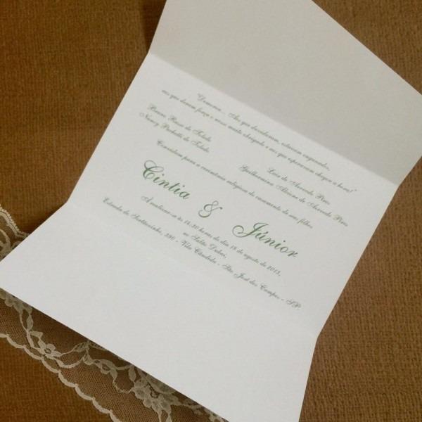 Convite De Casamento Barato E Bonito