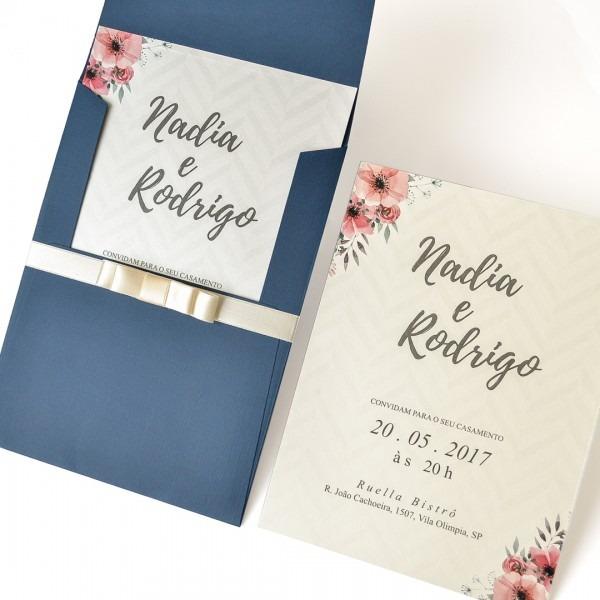 Convite De Casamento No Campo Nadia