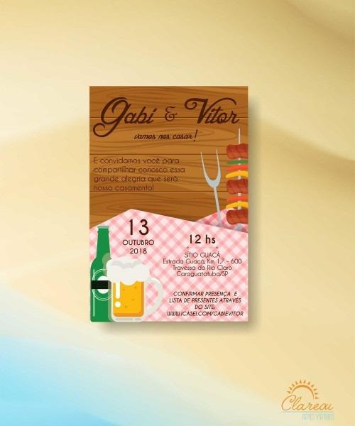 Convite de casamento churrasco 01