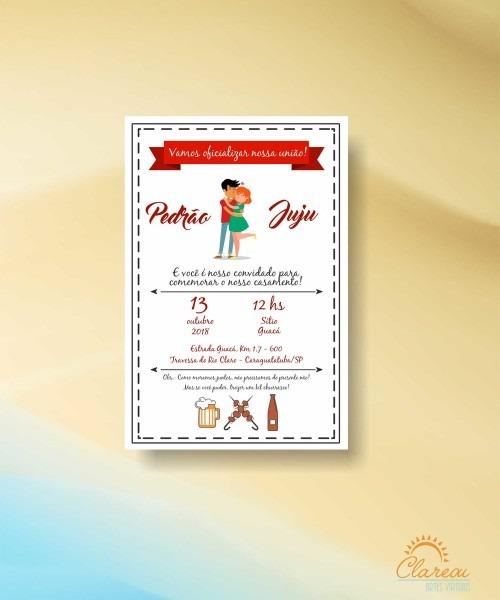 Convite de casamento churrasco 03