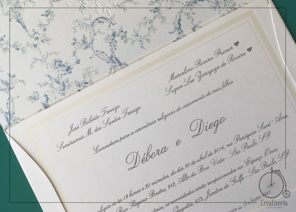 Convite de casamento diego no elo7