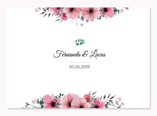 Freebie  convite de casamento flower