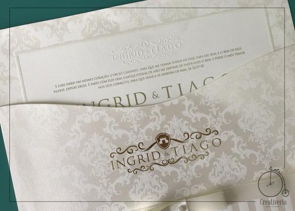 Convite de casamento ingrid no elo7