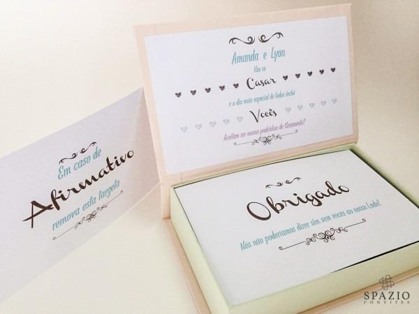 Convite de casamento modelo inspire
