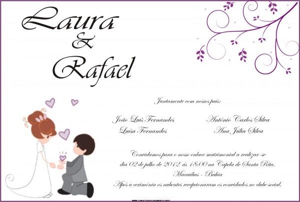 Feito Com Amor ♡  Convites De Casamento