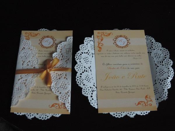 Convite de casamento rustico 80 und + tag 18x10 + individual