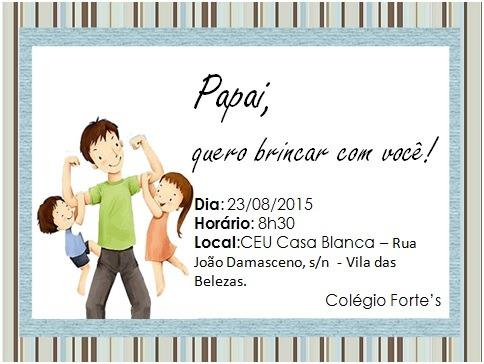Tag; convite festa dia dos pais