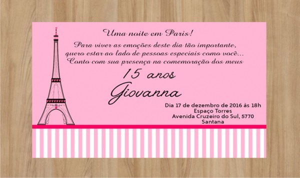 Convite 15 Anos Rosa Arquivo Digital