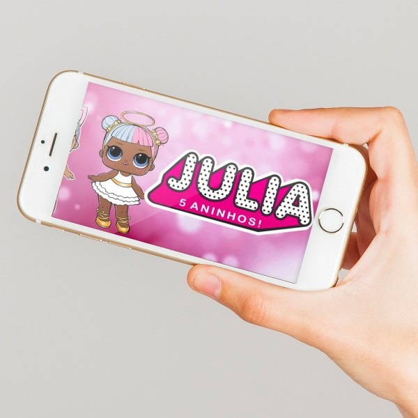 Convite virtual animado boneca l o l surprise digital no elo7