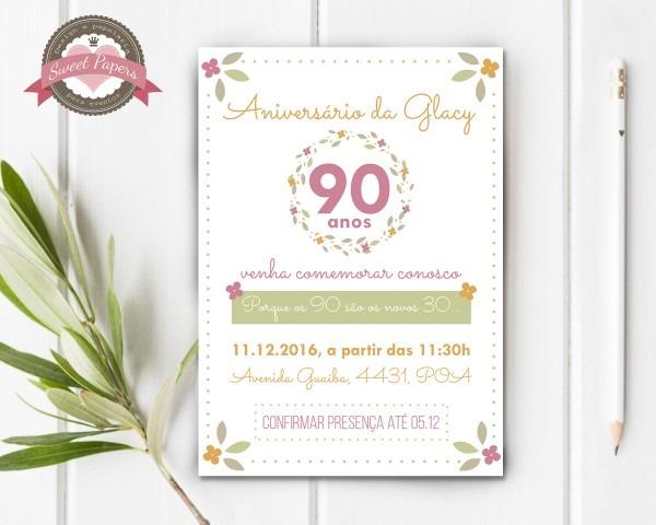 Convite digital aniversário no elo7