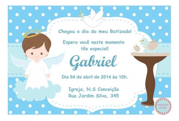 Sm³ instrutoras  convites de batizado feito com fundo poÁ