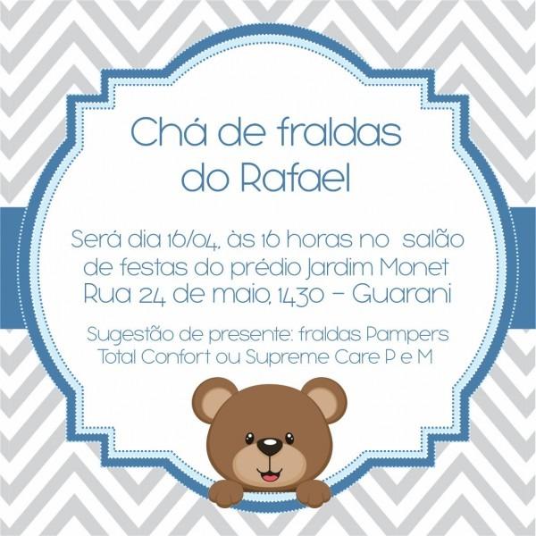 Convite digital chá de fraldas no elo7