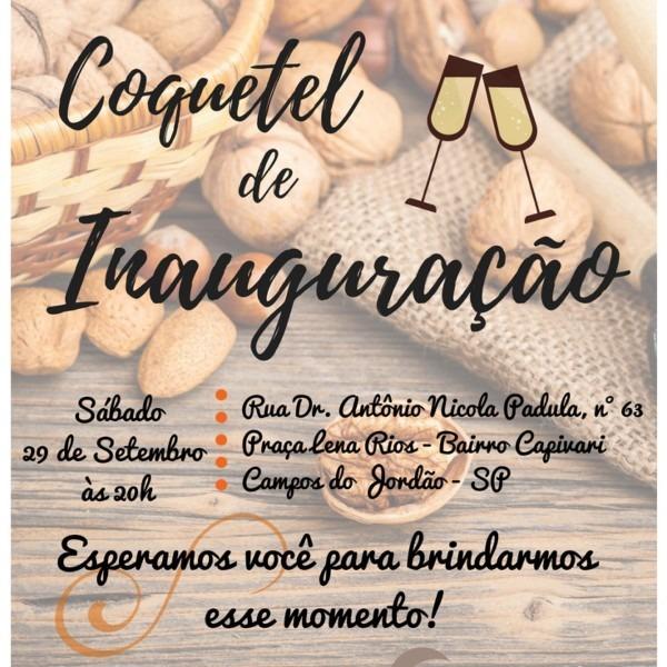 Convite digital coquetel inauguraÇÃo